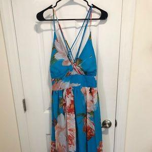 Floor Length Floral Dress